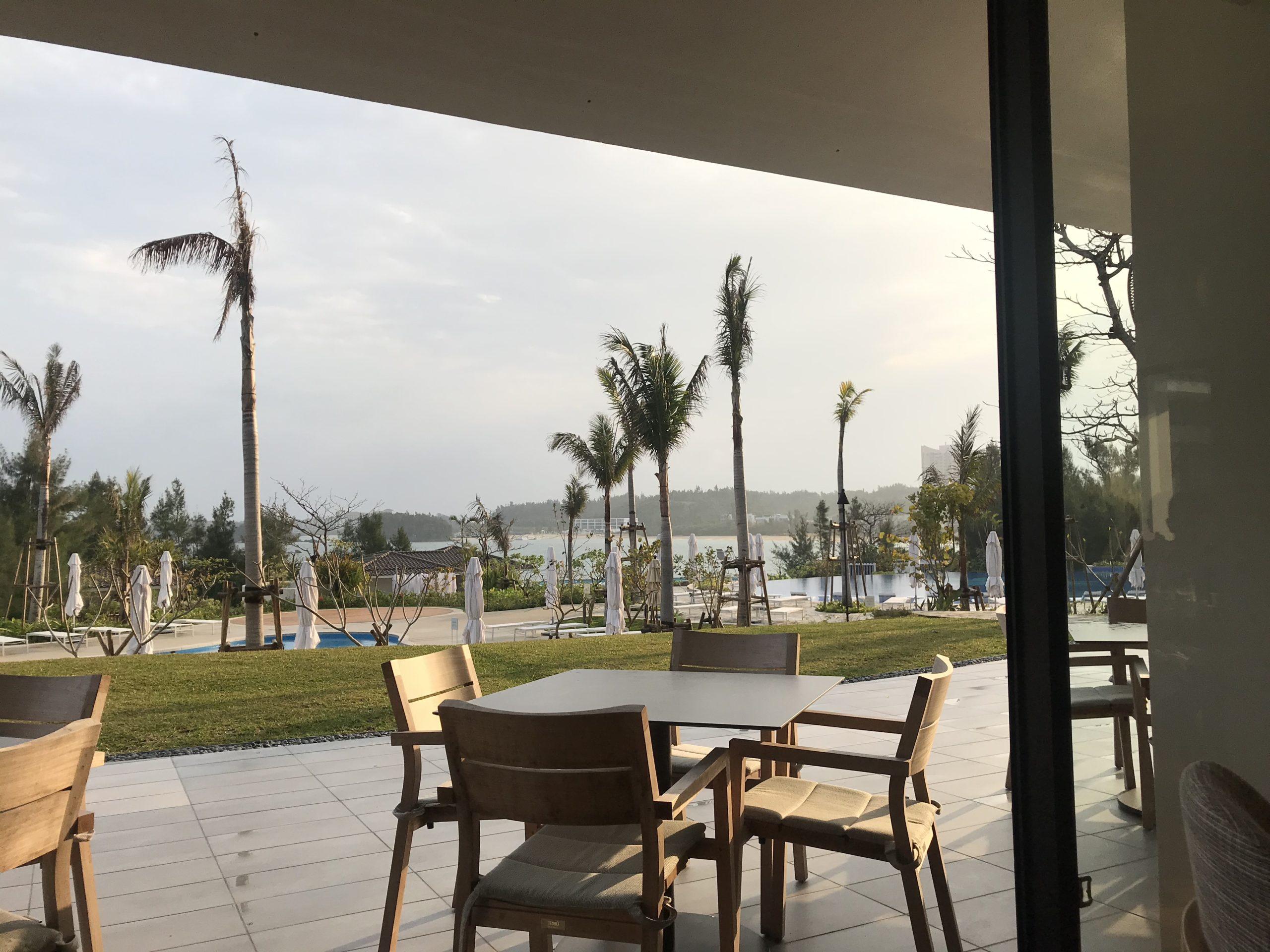 「ハレクラニ沖縄」ハウスウィズアウトキーからの眺め