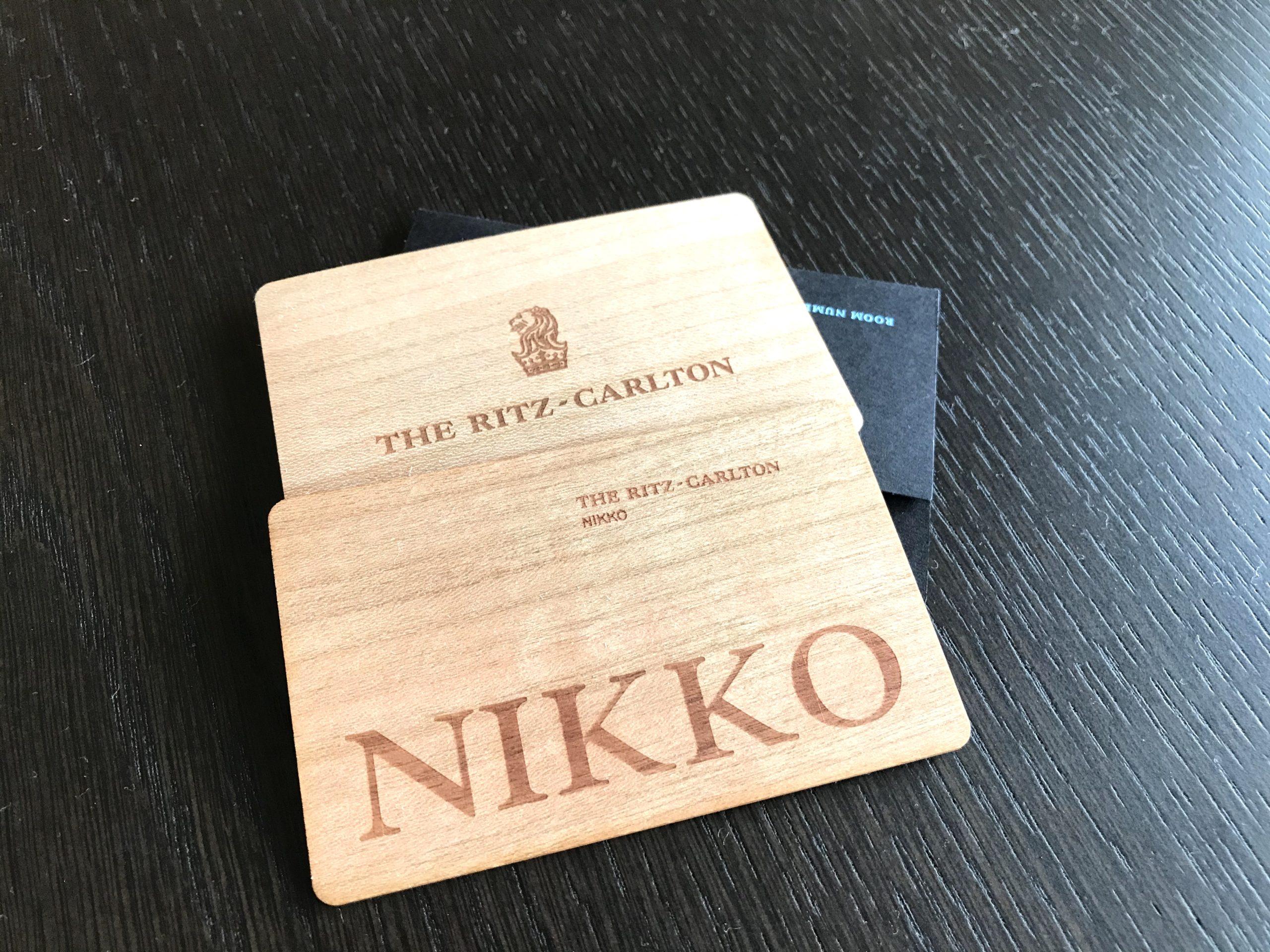 ザ・リッツ・カールトン日光カードキーの写真
