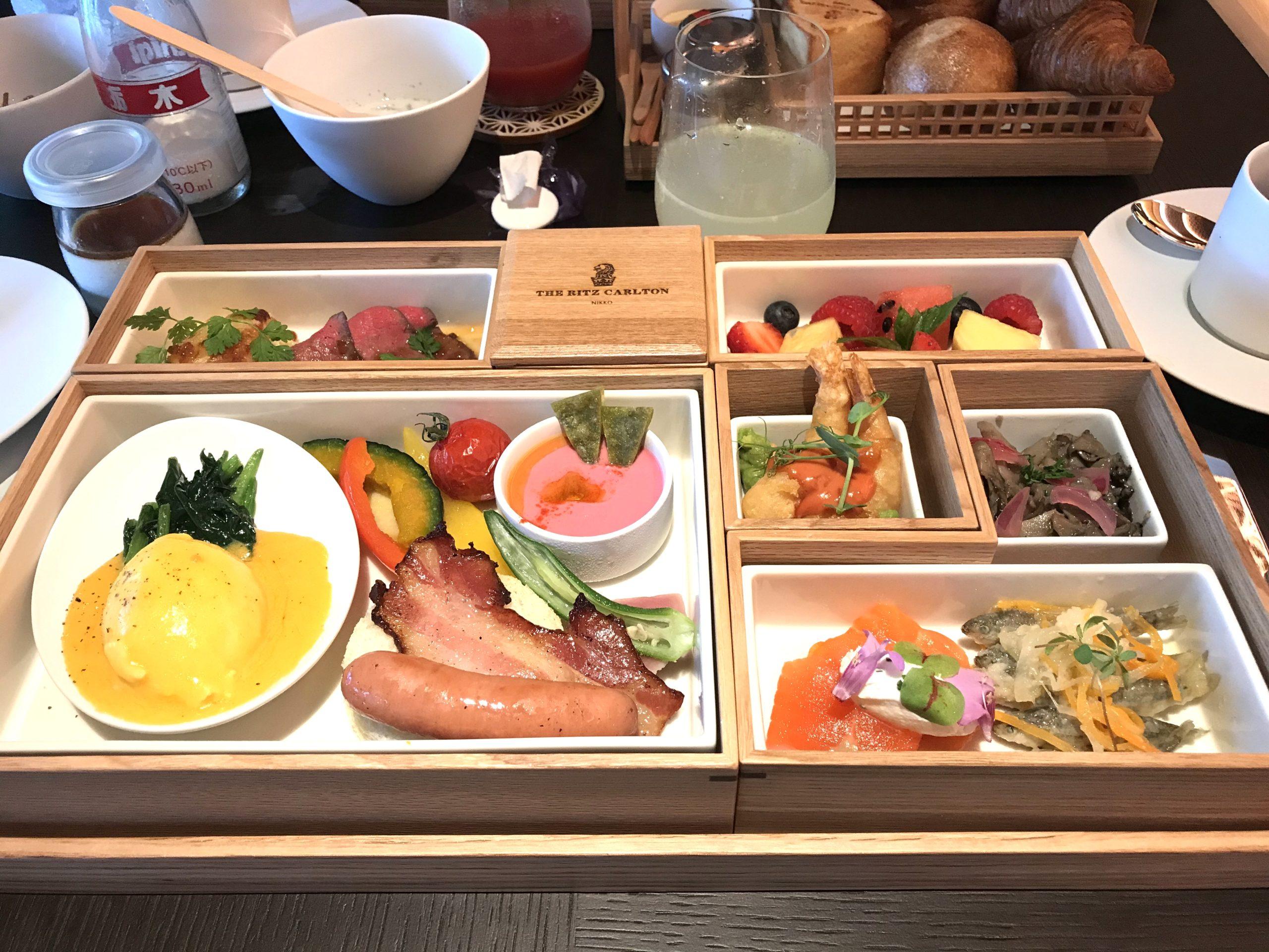 ザ・リッツ・カールトン日光朝食の写真目でも楽しませてくれる朝食