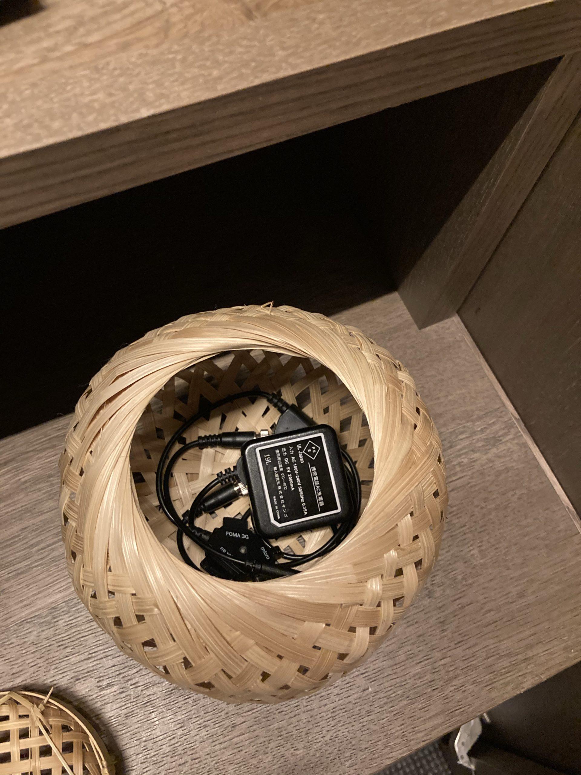 「ふふ奈良」クローゼット内の籠の中の写真