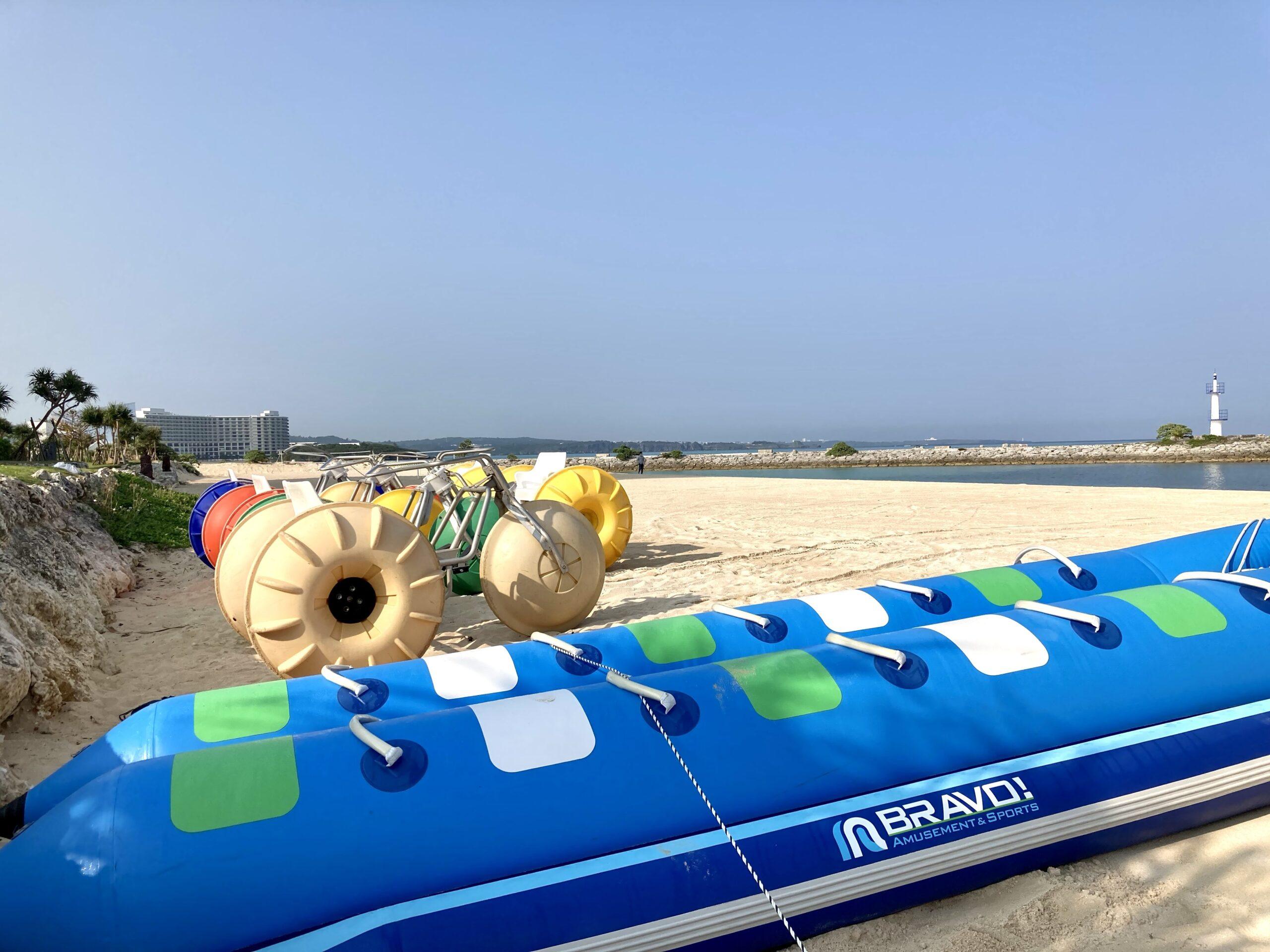 「シェラトン沖縄サンマリーナリゾート」ビーチのアクティビティの写真