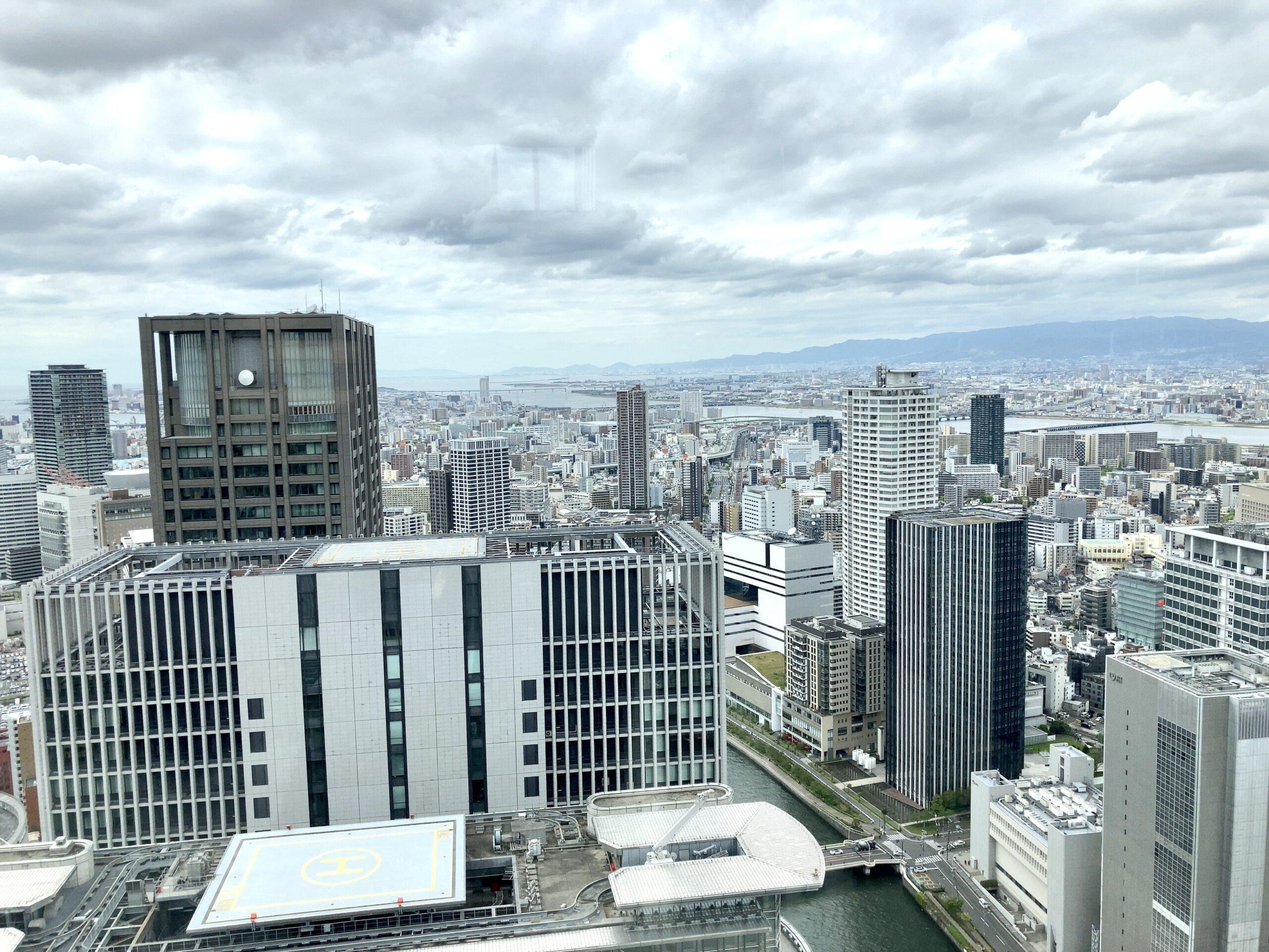 「コンラッド大阪」窓からの眺め