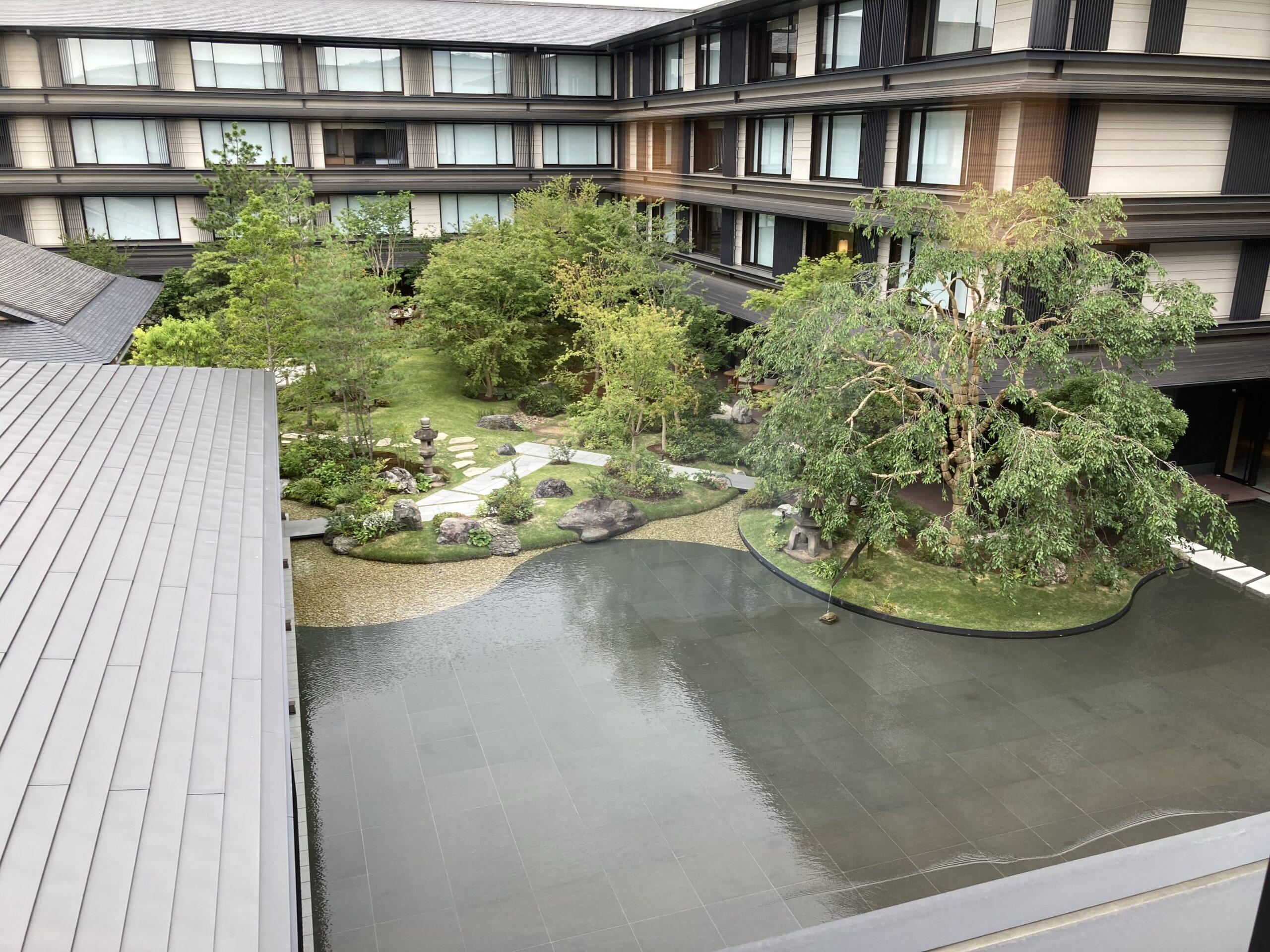 「ホテルザミツイキョウト」デラックスガーデンルームの部屋からの眺め