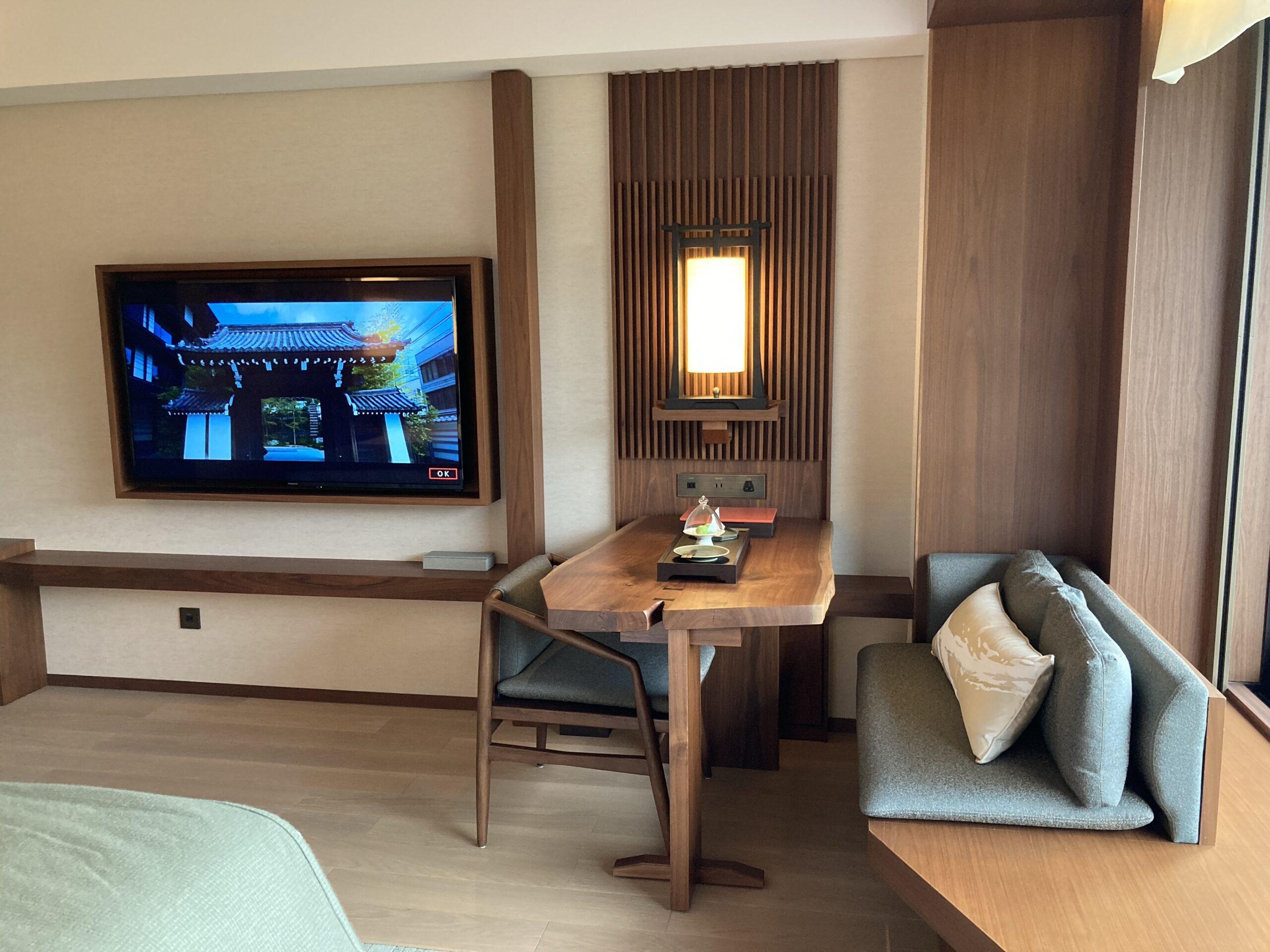 「ホテルザミツイキョウト」リビングスペースの写真