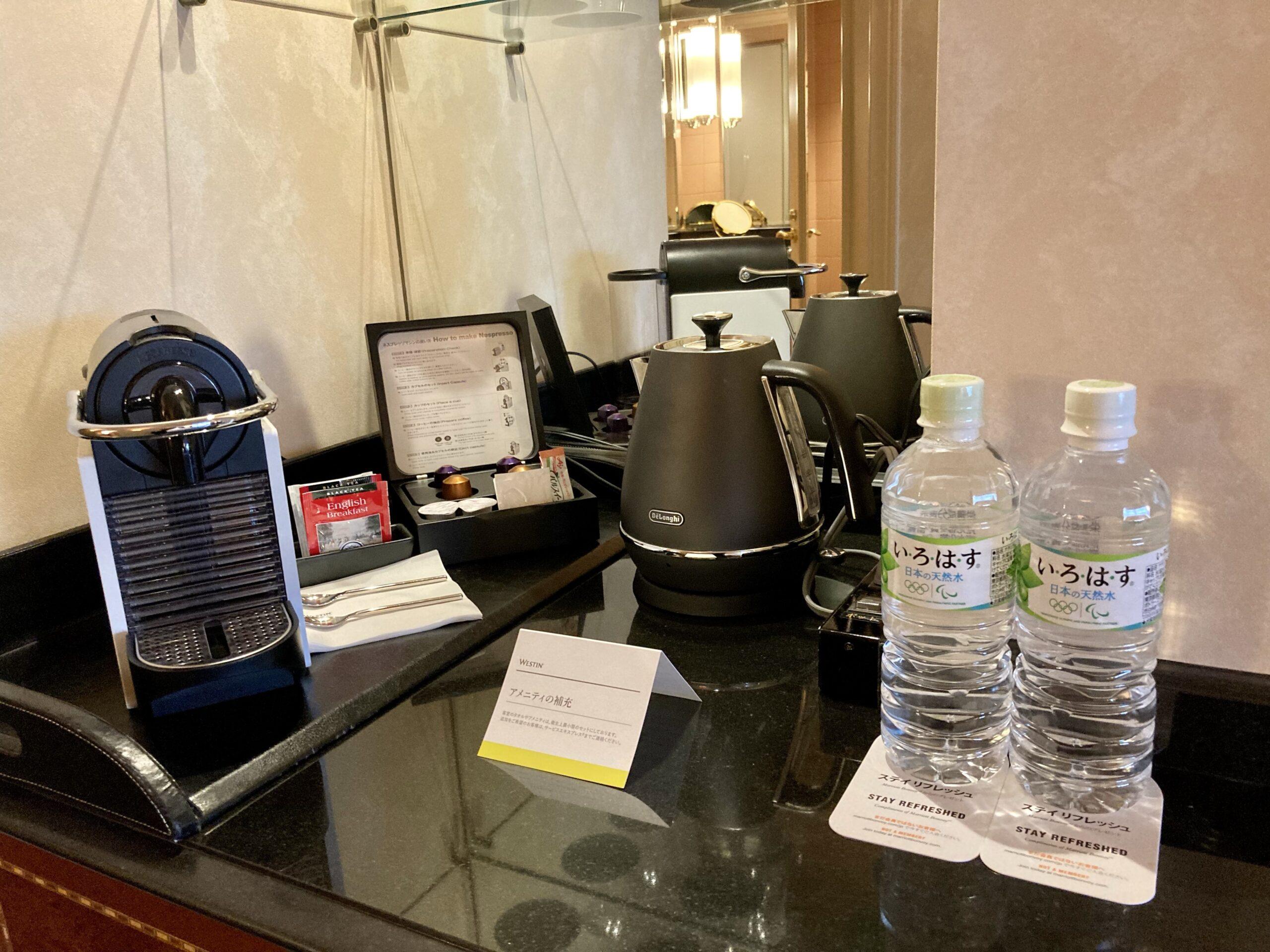 「ウェスティンホテル東京」ミニバーコーナーの写真
