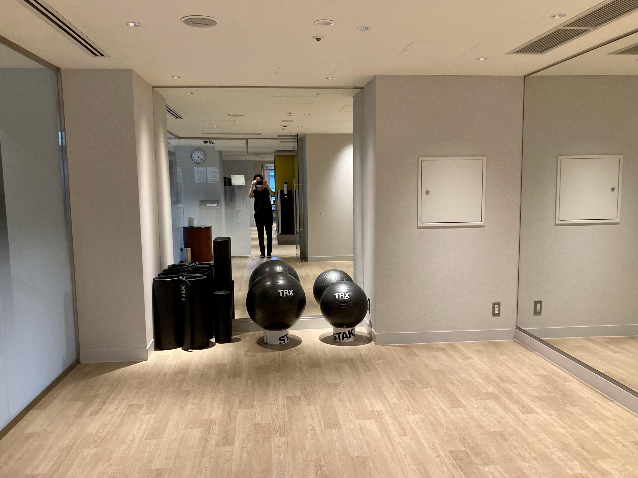 ウェステインホテル東京のフィットネスルーム