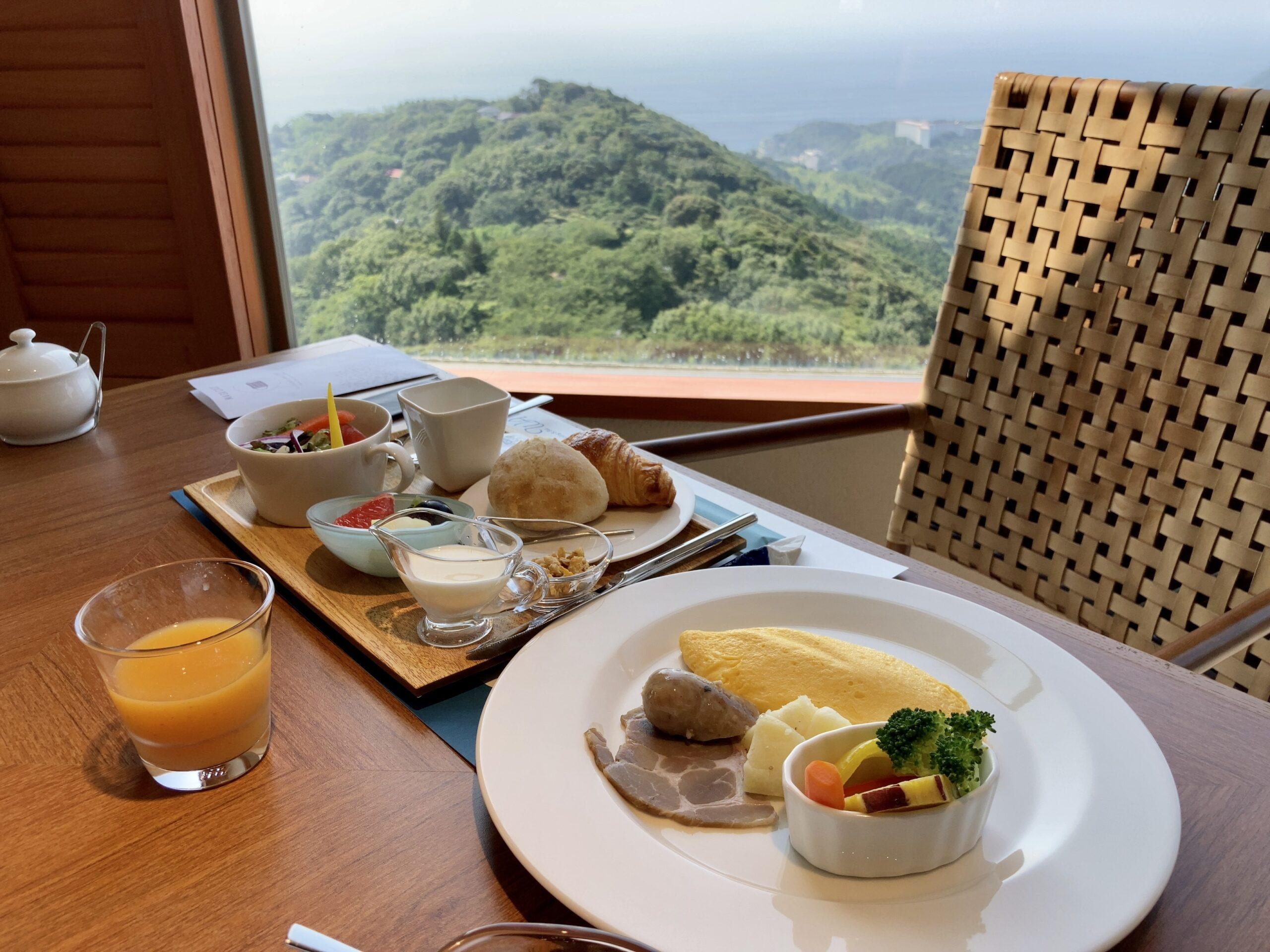 「伊豆ホテルリゾート&スパ」での朝食写真
