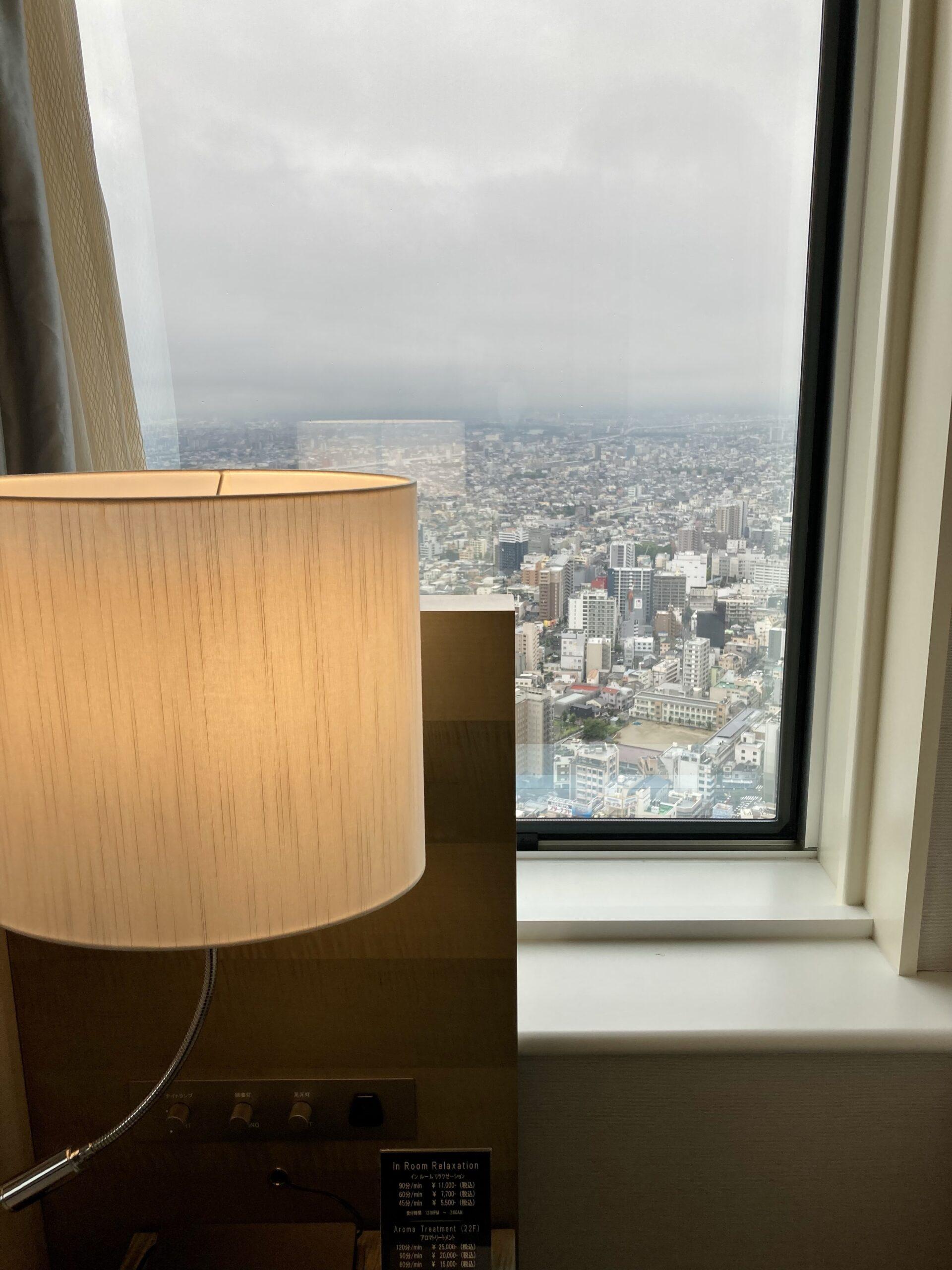 名古屋マリオットアソシア客室の様子