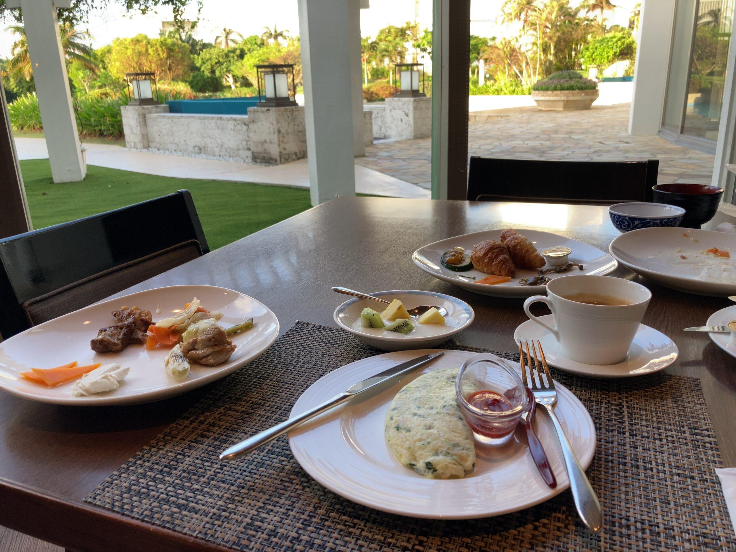 ANAインターコンチネンタル石垣リゾート朝食の様子